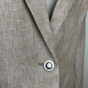 J. Crew Jackets & Coats - J.Crew Campbell Linen Blazer enamel buttons Size 8